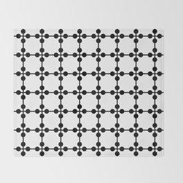 Droplets Pattern - White & Black Throw Blanket