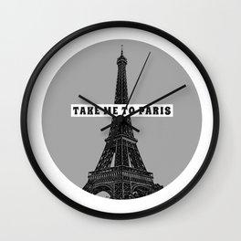 Take me to Paris Wall Clock