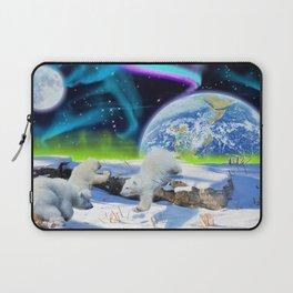 Joyful - Polar Bear Cubs and Planet Earth Laptop Sleeve