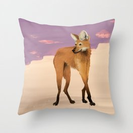 Maned Wolf Throw Pillow