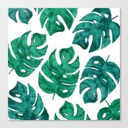 Watercolor Leaves II Canvas Print