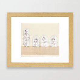 small cardboard tab drawings Framed Art Print