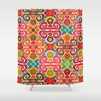 fall Shower Curtains featuring FALL by Sharon Turner