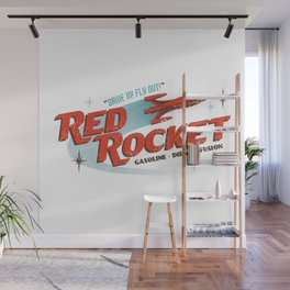 Red Rocket Wall Mural