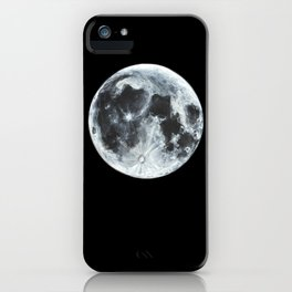 Full Moon Painting iPhone Case