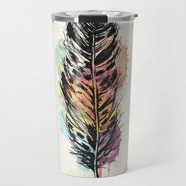 AP096 Watercolor feather Travel Mug