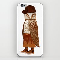 hip hop iPhone & iPod Skins featuring Hip Hop Owl by Santiago Uceda