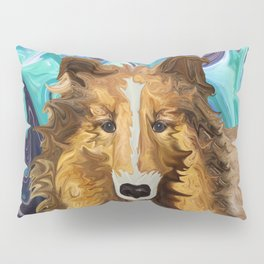 The Inquisitive Collie of the Psychedelic Dog Parade Pillow Sham