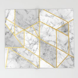 Shattered Marble 2 Throw Blanket