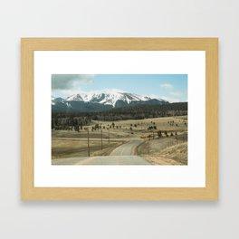 Mountains of Colorado Framed Art Print