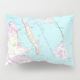 Vintage Map of Port St Lucie Inlet (1948) Pillow Sham
