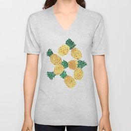 Summer Pineapple Goodness Unisex V-Neck