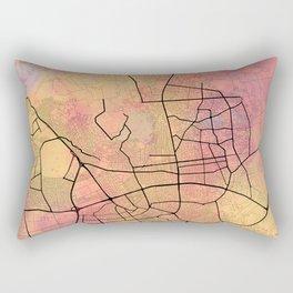 Antalya Street Map Art Watercolor Coloring Rectangular Pillow
