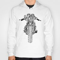 cafe racer Hoodies featuring Cafe Racer front view by Paul McCreery