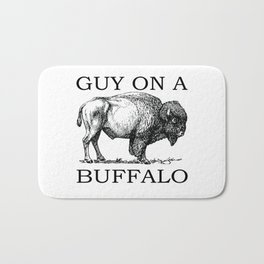 Guy on a Buffalo Bath Mat