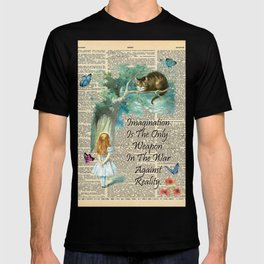 Alice In Wonderland Quote - Imagination - Dictionary Page T-shirt