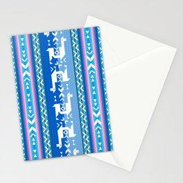 Llamas_Pink and BlueSky Stationery Cards