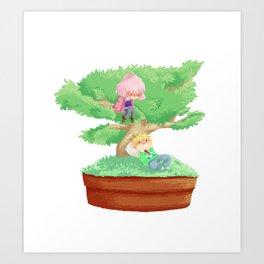 Bonsai Buddies Art Print