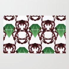 Emeralds & Demons [WHITE] Rug