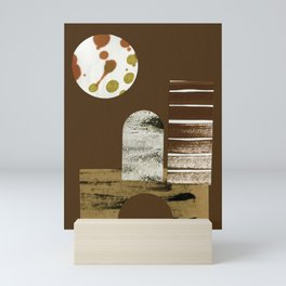Night Desert Dwelling Mini Art Print