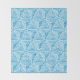 Geodesic Palm_Blue Sky Throw Blanket