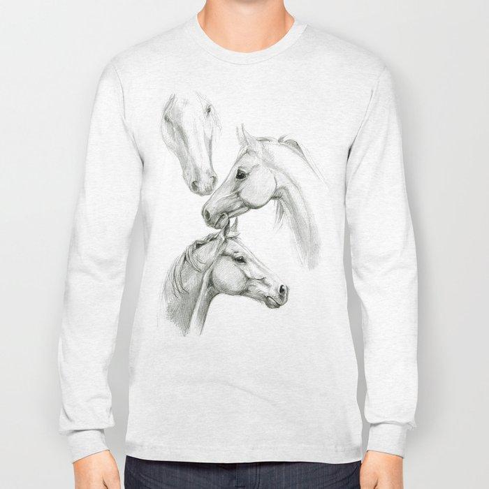 Horses sketch SK036 Long Sleeve T-shirt