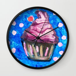 Sparkle CupCake Wall Clock