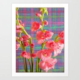Pink Gladiolus Art Print