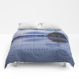 Daybreak at Haystack Rock Comforters