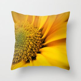 Big Yellow Flower Throw Pillow
