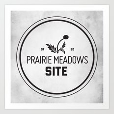 Prairie Meadows Site Art Print