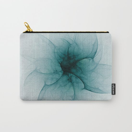 Dark Flower Fractal Carry-All Pouch