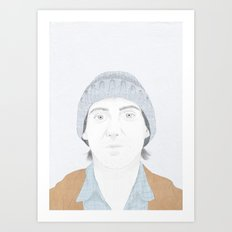 Hey There Bright Eyes Art Print