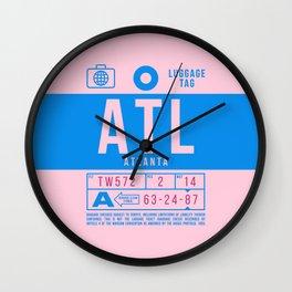 Luggage Tag B - ATL Atlanta USA Wall Clock