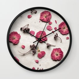 Botanical Bits Wall Clock
