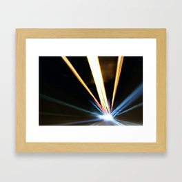 Tunnel Lichter Framed Art Print