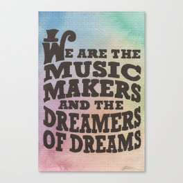 The Music Makers Canvas Print