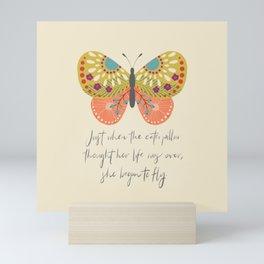 Botanical Butterfly: She began to Fly Mini Art Print