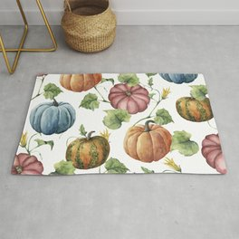 PUMPKINS WATERCOLOR Rug