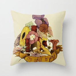 I'm An Accident But... Throw Pillow