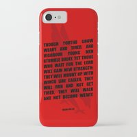 bible verses iPhone & iPod Cases featuring Typographic Motivational Bible Verses - Isaiah 40:30 by The Wooden Tree