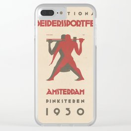 Old Sign / Sport Meeting AMSTERDAM 1930 Clear iPhone Case
