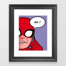 The secret life of heroes - SpiderPhone Framed Art Print