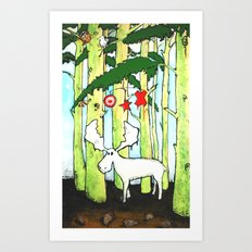 Moose In Washington Art Print