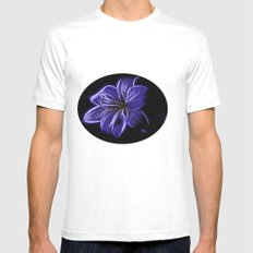 A luminescent flower Mens Fitted Tee White MEDIUM