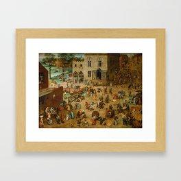 Pieter Bruegel the Elder - Children's Games Framed Art Print