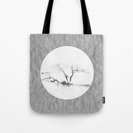 Scots Pine Paper Bag Grey Tote Bag