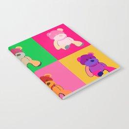 Pop Art Teddy Bear Notebook