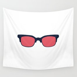 Sun Glasses on White Wall Tapestry