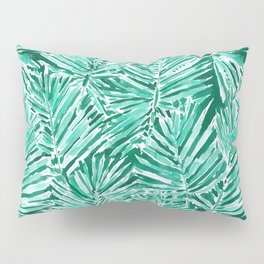 ON VACAY Green Palm Leaves Pillow Sham